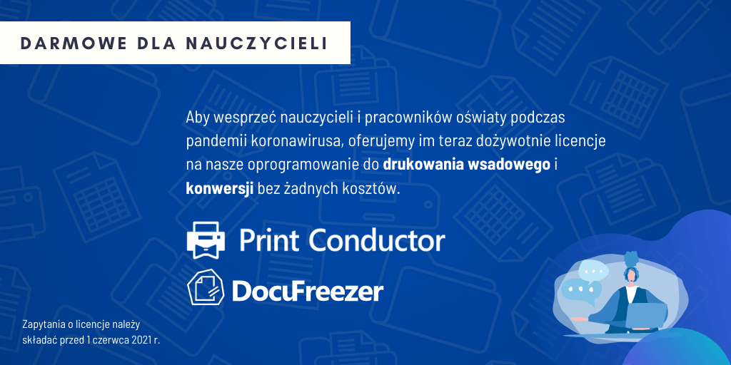 Nauczyciele mogą dostać Print Conductor całkowicie za darmo