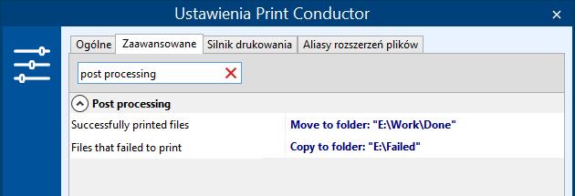 Przenoś, kopiuj lub usuwaj pliki po drukowaniu wsadowym